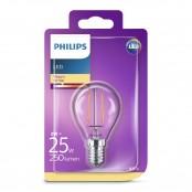 Lampadina LED sfera filamento luce bianca calda P45 E14...