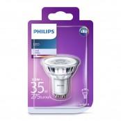 Lampadina LED faretto in vetro 35W GU10 4000K non dim 36°...
