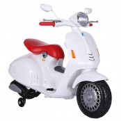 Ride-on Scooter bianco city elettrico 12V