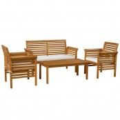 Salotto da esterno Bold con 1 divano, 2 poltrone e 1 tavolino