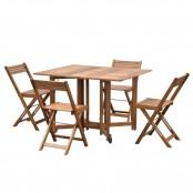 Set consolle Artù con tavolo e 4 sedie