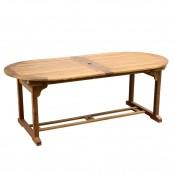 Tavolo ovale allungabile 100x200/300x74 cm