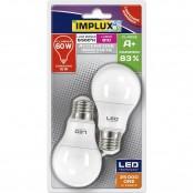 Confezione 2 lampadine LED Goccia 10W E27 6500°K B-LFG760