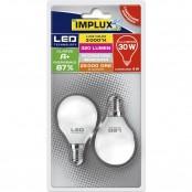 Confezione 2 lampadine LED G45 4W E14 3000K B-LCG430