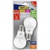 Confezione 2 lampadine LED Goccia A60 10W E27 3000K B-LCG760