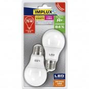 Confezione 2 lampadine LED Goccia A60 12W E27 3000K B-LCG775