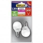 Confezione 2 lampadine LED Sfera G45 4W E14 6500K B-LFG430