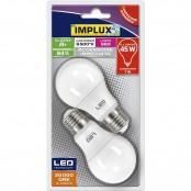 Confezione 2 lampadine LED Goccia A60 7W E27 6500K B-LFG745