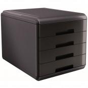 Cassettiera Mydesk 4 cassetti nera