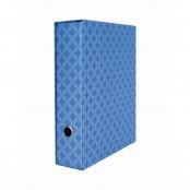 Registarore Metal con dorso di 8 cm blu