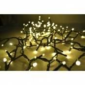 Catena luminosa da esterno 180 LED bianca calda e giochi luce