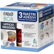 Confezione BOX da 3 nastri adesivi + dispenser universale...