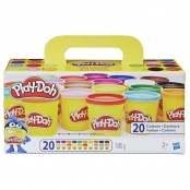 Confezione Super Color con 20 vasetti di pasta da modellare