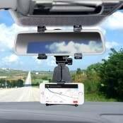 Supporto per smartphone da specchietto retrovisore