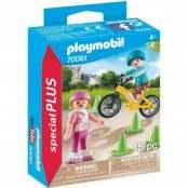 Family Fun Bambini con pattini e BMX