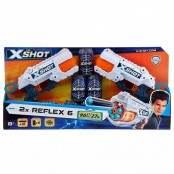 X-Shot Set 2 blaster Reflex 6 con 16 dardi e 3 lattine