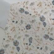 Lenzuolo sopra 2P Floreale Blu 240x280 cm