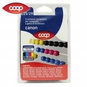 5 cartucce per stampanti colori assortiti C25/29...
