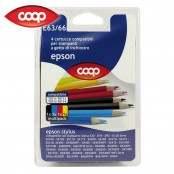 4 cartucce per stampanti colori assortiti E63/66...