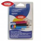 4 cartucce per stampanti colori assortiti E81/84...