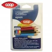 4 cartucce colori assortiti E91/94 compatibili Epson...