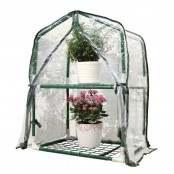 Serra da giardino a 2 ripiani con copertura in PVC...