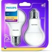 Set 2 lampadine LED Goccia E27 11W luce calda A+