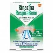 Rinazina RespiraBene 10 cerottini nasali Balsamici