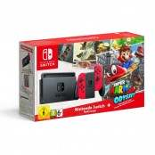 Console Switch con Joy-Con rossi + Super Mario Odyssey...
