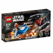 Star Wars A-Wing contro Microfighter TIE Silencer 75196