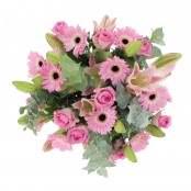 Bouquet 10 rose 11 germini e 5 lilium