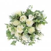 Bouquet 12 rose bianche 8 lisianthus