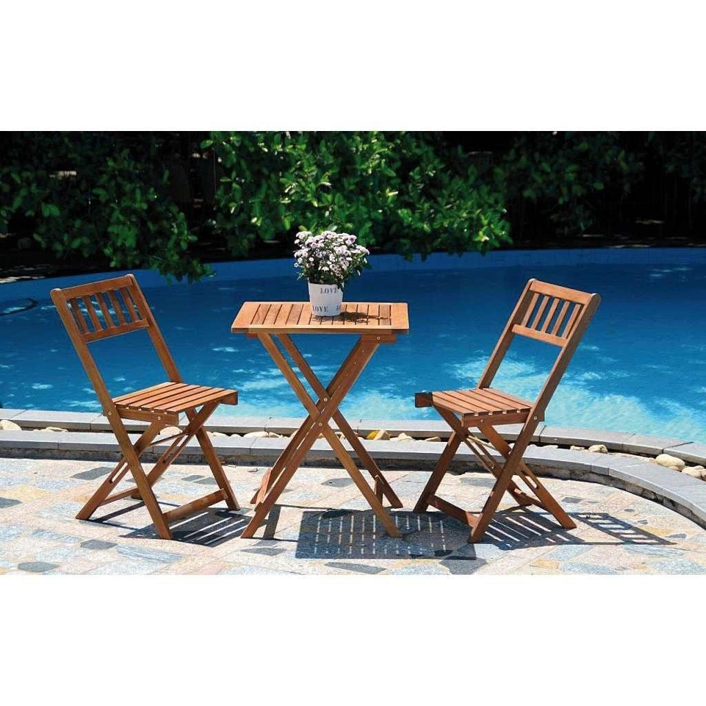 SET BALCONE NEWPORT 3 PZ PIEGH Tavoli e sedie Giardino e