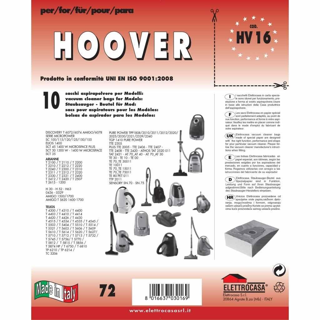 Hoover Contenitore Aspirapolvere Sacchetti di carta